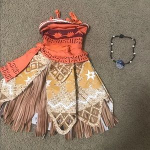 Disney Moana dress/costume 3t-4t
